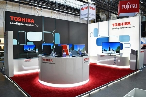 Messestand Toshiba